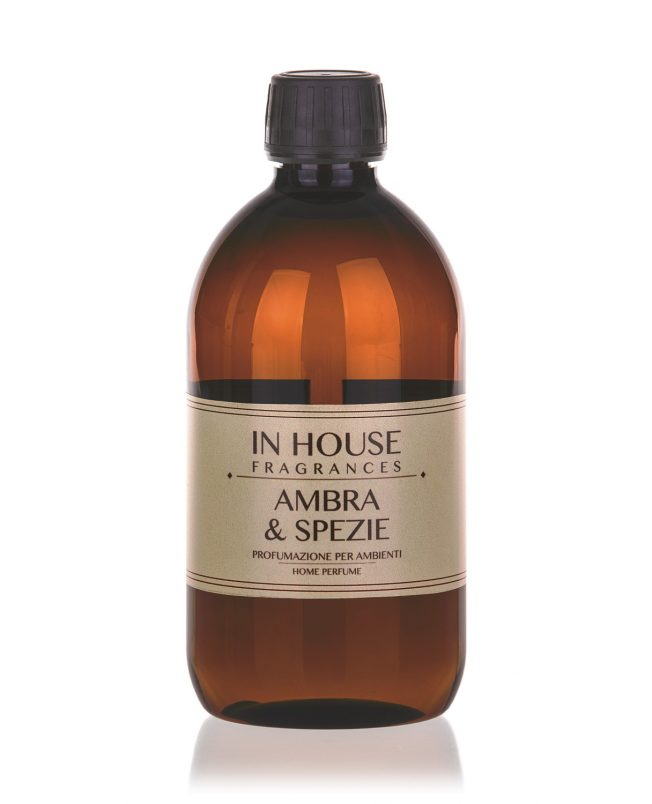 In House Fragrances - Ambra & Spezie Ricarica Profumo 500ml - Compra online Spray Parfums