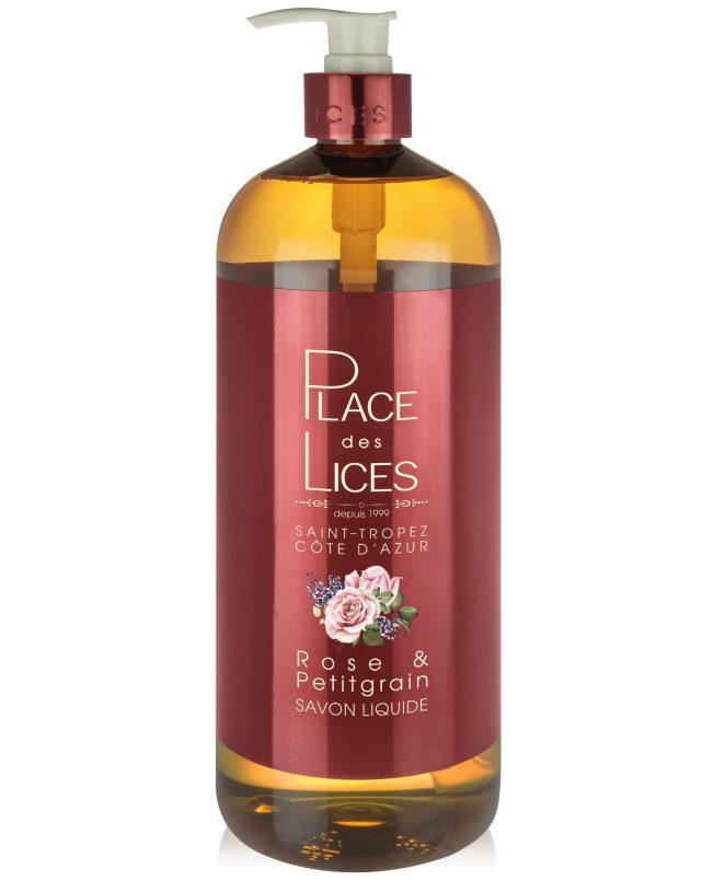 Savon Liquide 1000ml Rose Petitgrain - Place des Lices